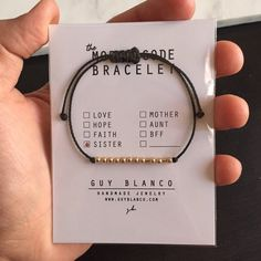 SISTER // Morse Code Bracelet 14k Gold Filled TOP by ShopGuyBlanco