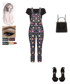 """Untitled #656"" by insafsat on Polyvore featuring Helmut Lang, Needle & Thread, Yves Saint Laurent and Fendi"