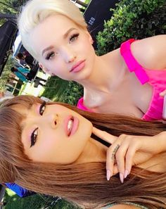 Ariana Grande and Dove Cameron