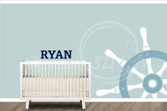 Nautical Theme Steering Wheel Decal  #custom #nautical #name #wheel #boy #bedroom #nursery #nauticaltheme #decortheme  http://www.round321.com