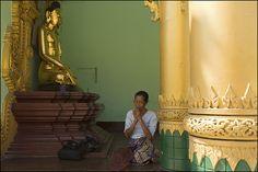 P R A Y I N G. Yangoon