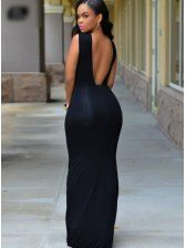 Dropship Black Slit Sexy Maxi Dress from Dear-lover and wear it for any big occasion. Side Slit Maxi Dress, Sexy Maxi Dress, Classy Dress, Classy Outfits, Sexy Dresses, Dress Outfits, Evening Dresses, Fashion Dresses, Sleeve Dresses