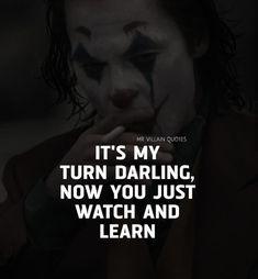 Joker Love Quotes, Heath Ledger Joker Quotes, Psycho Quotes, Badass Quotes, Funny Quotes, Dark Soul Quotes, Ego Quotes, Army Quotes, Real Life Quotes