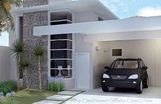 Fachadas de Casas Simples Pequenas mas muito Modernas! Fachadas de casas simples Fachadas de casas Fachadas de casas pequenas