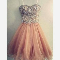Amazing Pink Tulle Handmade Short Gown