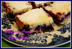 Sweet Tea and Cornbread: Blueberry Cream Cheese Bars!