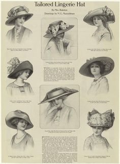 881180f204e This is an ad for luxurious tailor made Lingerie hats. Lingerie hats made  from muslin