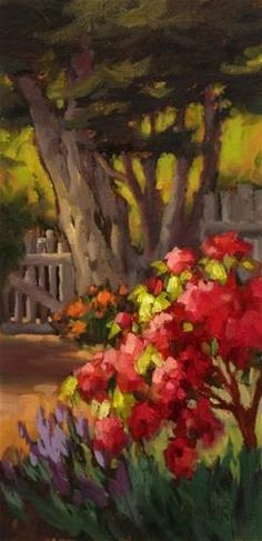 "Daily+Paintworks+-+""Sunshines+Garden""+-+Original+Fine+Art+for+Sale+-+©+Erin+Dertner"