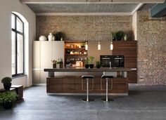 Solid wood kitchen with island k7 by TEAM 7 Nat�rlich Wohnen design Kai Stania