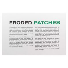 Eroded Patches Daniel Arsham Connecting Time Exhibition Taken at Moco Museum Amsterdam _______________________________________ Mo & Co, Europe Europe, Spotlight, Amsterdam, Modern Art, Connection, Patches, Art Gallery, Museum