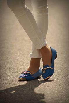 Blue mocs. . Like, Repin, Share, Follow! Thanks :)