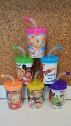 Daniel The Tiger Personalized Party Favor Cups by MehareyDesigns, These cups are great to put treats inside of them or to put inside of your party bags as a gift.You can have your child's name or whatever wording you like