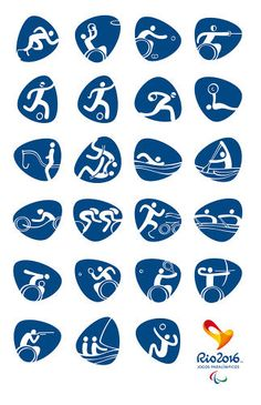<p>Today the Rio 2016 organizing committee rolled out the graphic pictograms for the games.</p>
