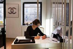 Chanel Rue St-Honoré - Koala calligraphie Paris St Honoré, Chanel, Desk, Paris, Furniture, Home Decor, Calligraphy, Desktop, Montmartre Paris