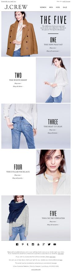 The Winter Five are here - J. Crew | 30.10.2014