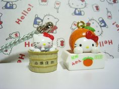 GOTOCHI HELLO KITTY JAPAN Region Tiny Figure Mascot Charm Strap SET Sanrio SALE1 : *condition* Unused (NO package, NO tag) Released by Sanrio JAPAN in 2003 (the left one) & 2004 (the right one). 18.99-24.99 (3.80/3.90/4.90)
