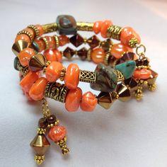 Autumn Delight Wrap Bracelet TDC 062 by TheaDesignConcepts on Etsy