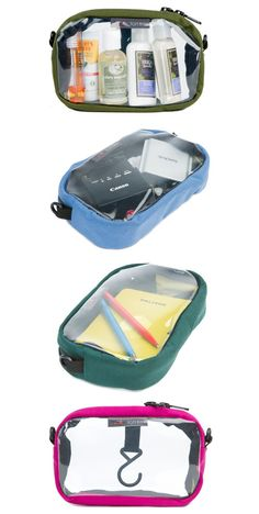 3D Clear Organizer Cube: organize toiletries, cables, pens and notebooks, tech gear, etc. >>> Perfect for anything and everything travel!