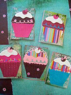 cupcakes paper piecing