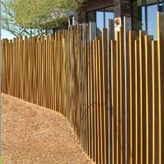 Idea for unique fence around pool
