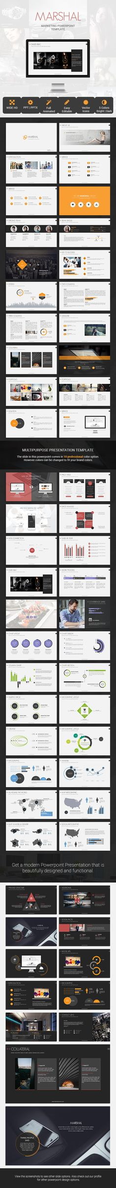 modern Powerpoint template that is beautifully designed and functional #light #marketing #modern • Available here → http://graphicriver.net/item/marshal-marketing-presentation-template/8008052?s_rank=419&ref=pxcr