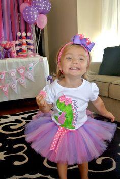 "Photo 1 of 32: Dinosaurs / Birthday ""Alaina's 2nd Pink Dinosaur Birthday Party""   Catch My Party"