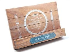 GISELA GRAHAM Wooden Recipe Book Holder