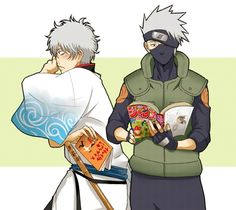 Gintoki Sakata & Kakashi Hatake- this is perhaps my favorite picture now lol