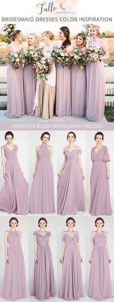 lavender blush bridesmaid dresses with real wedding #bridesmaiddresses #bridalparty #weddingcolors #weddinginspiration