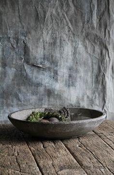Lovely bowl on grey fabric backdrop...AJ