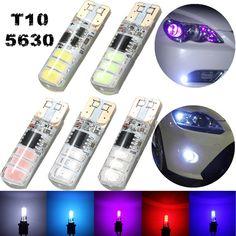 T10 Ericsson 6smd LED ancho de luz de posición lateral explosión destellos Lampara 120LM