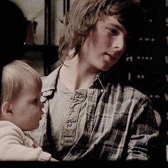 Carl Grimes with his sister