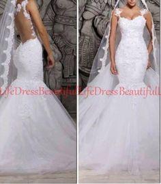 sexy wedding dress / lace wedding dress / por BeautifulLifeDress, $232.99