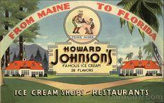 Howard Johnsons Ice Cream Shops and Restaurants