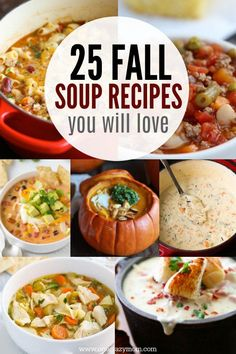 Here are yummy fall soup recipes to make when the weather starts cooling down. 25 recipes that the entire family will love!