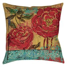 """Manual Woodworkers & Weavers Valencia 3 Indoor/Outdoor Throw Pillow Size: 16"""" H x 16"""" W x 4"""" D"""