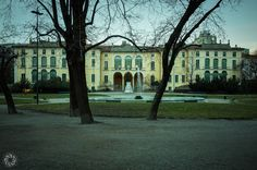 Palazzo Dugnani a Milano (dal Parco di Via Palestro)