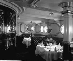 First Class dining saloon on the R.M.S. Empress of Ireland (1906)