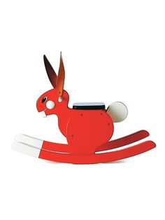 this rocking rabbit from playforever toys is SUPER cute! $190 on GILT, black or red