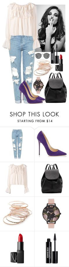 """""""Spring #2"""" by manon29 ❤ liked on Polyvore featuring Whiteley, Topshop, Jimmy Choo, See by Chloé, Witchery, Red Camel, Olivia Burton, NARS Cosmetics, Edward Bess and Ray-Ban"""