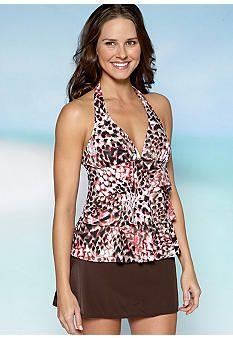 Kim Rogers® Ruffle Tankini & Skirted Swim Bottom