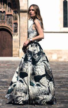 Conscious Collection Exclusive H&M HM Patterned silk blend dress US6 UK10 EUR36 #HM #Formal