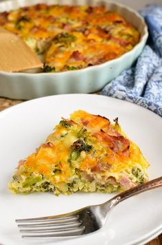 Slimming Remedies Slimming Eats Syn Free Crustless Ham and Broccoli Quiche - gluten free, Slimming World and Weight Watchers friendly - Low Calorie Recipes, Diet Recipes, Cooking Recipes, Healthy Recipes, Healthy Food, Easy Recipes, Healthy Eating, Healthy Vegetables, Diabetic Recipes