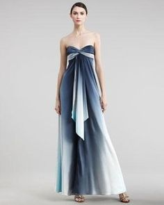 Nicole Miller strapless ombre gown