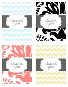Free thank you card printables
