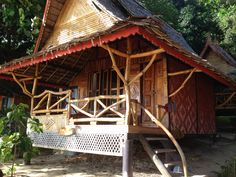 Beach Hut Koh Phi Bamboo House Thailand Accommodation Huts Surf