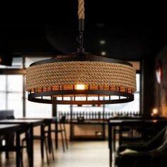 La lumière au plafond, fer à repasser industriel Retro Vintage Loft Lustre plafonnier luminaire lampe de table ⌀30cm E27 Interface