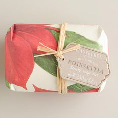 One of my favorite discoveries at WorldMarket.com: Castelbel Vintage Christmas Poinsettia Bar Soap