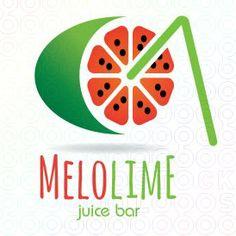 Melolime - Juice bar logo by logofish #logo #logo design