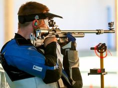 Matthew Emmons of the United States competes during